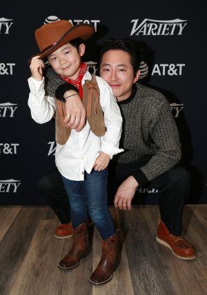 Steven Yeun and Alan Kim