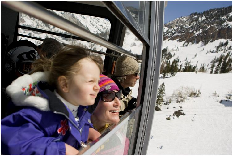 Riding the tram with kids