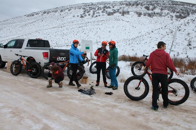 winter glamping starts with a Scott fat bike adventure