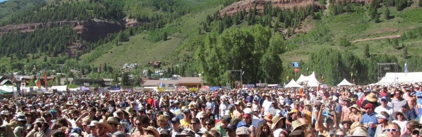 Telluride Bluegrass fest crowd