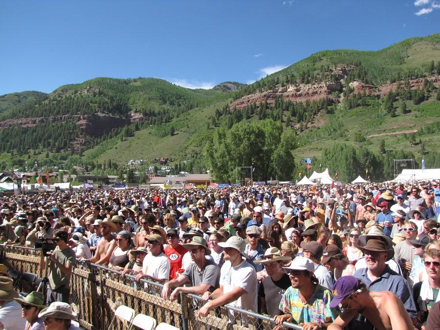 Telluride Bluegrass fest crowd