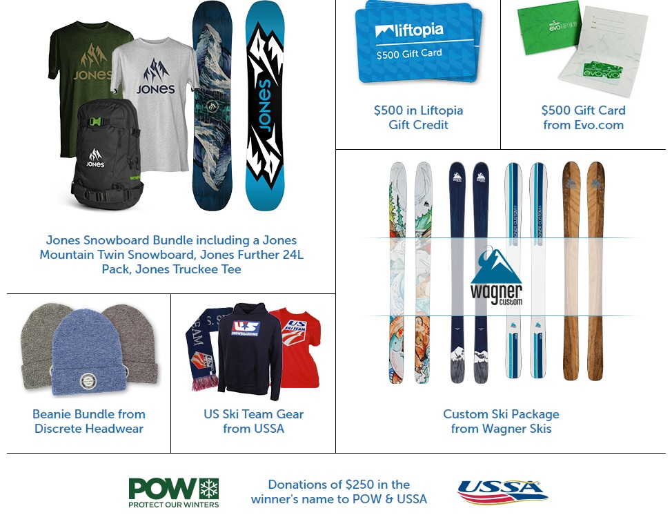 Win What's in The Gear Locker Giveaway - Ski. Play. Live.