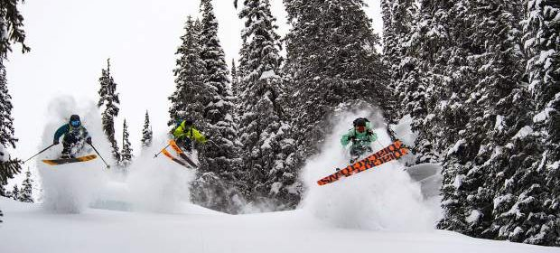 Matchstick ski crashes